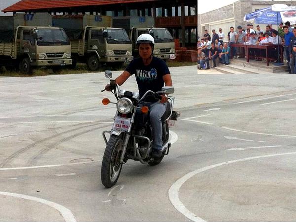 thi bằng lái xe máy hạng A2
