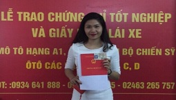 Lê Xuân Mai - Học viên học lái xe hang B1 số tự động